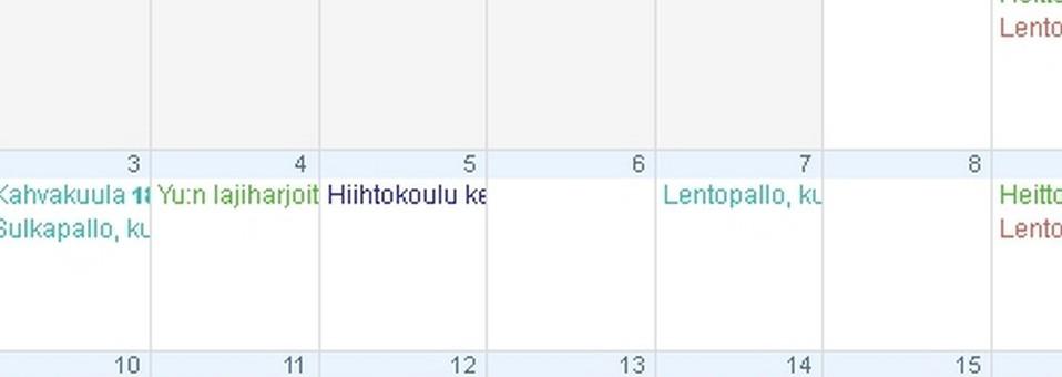 tapahtumakalenteri